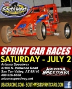 "SOUTHWEST SPRINTS RIDE OFF TO ARIZONA SATURDAY; ROA EXTENDS WC POINT LEAD WITH HANFORD ""W"""