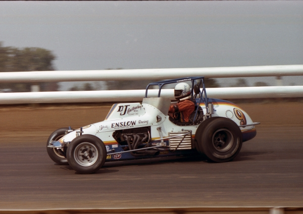 Mark Alderson in the Steve Enslow Silver Crown car at DuQuoin.
