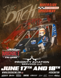 "TWO-NIGHT ""40 FOR SHORTY"" MIDGET OUTING AT RIVERSIDE"