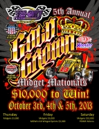 "3-NIGHT ""GOLD CROWN MIDGET NATIONALS"" THIS WEEKEND"