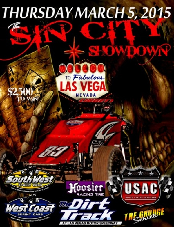 "4TH ""SIN CITY SHOWDOWN"" SPRINT AT LVMS THURSDAY"