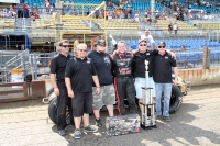 "A.J. Fike and his RFMS Racing team took their second-straight ""Tony Bettenhausen 100"" at Springfield on Saturday."