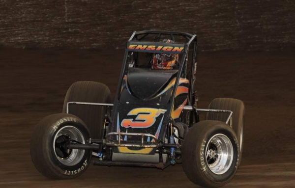 ENSIGN WINS 30-LAP USAC WEST COAST TURKEY NIGHT SPECIAL