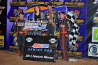 Bryan Clauson was joined by Tracy Hines & Mike Spencer on the podium Friday at Canyon.