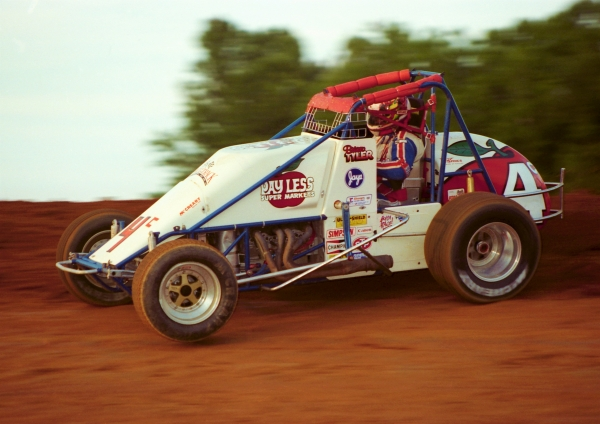 1996 USAC National Sprint Car champion Brian Tyler of Parma, Michigan