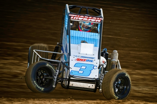 2016 USAC NOS Energy Drink National Midget champ Tanner Thorson returns full-time to the series in 2019 with Clyde Lamar's Tri-C Motorsports.