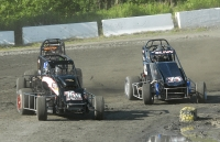 Adam Pierson and Josh Sunn are two of the newest USAC DMA feature winners.