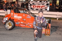 Andrew Layser won Saturday night's USAC Eastern Midget race at Ace Speedway in Altamahaw, NC.