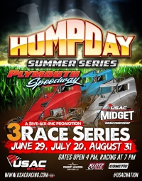 HUMP DAY SUMMER SERIES BEGINS WEDNESDAY AT PLYMOUTH; GRANITE CITY REGIONAL MIDGETS CALLED OFF