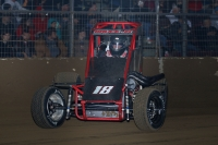"Tony Bruce, Jr., the lone representative for the state of Kansas entered for this Saturday's ""Junior Knepper 55"" USAC Midget race at the Southern Illinois Center in Du Quoin."