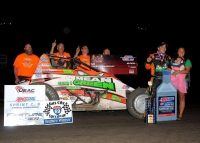 Brady Bacon gave Hoffman Auto Racing their 89th all-time National Sprint Car win on Friday at Gas City.