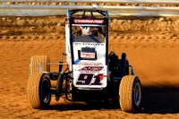 Tyler Thomas earned his first career USAC P1 Insurance National Midget win Sunday at Wayne County Speedway in Wayne City, Illinois.