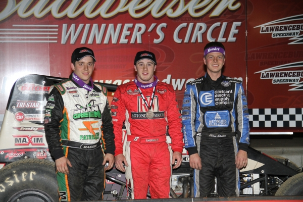 THOMAS TAKES LAST-LAP WIN AT LAWRENCEBURG