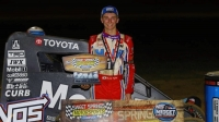 Buddy Kofoid (Penngrove, Calif.) scored his first career USAC NOS Energy Drink National Midget victory Saturday night at Missouri's Sweet Springs Motorsports Complex.