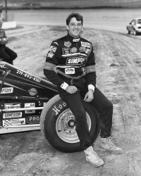 Tony Stewart at Eldora Speedway in his early USAC racing days.