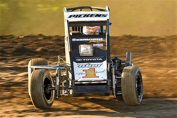 Gas City Indiana Midget Week winner Michael Pickens