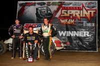 "Robert Ballou took the 28th ""Indiana Sprint Week"" championship over Kevin Thomas, Jr. & Brady Bacon."