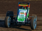 "Kevin Thomas, Jr. won Friday night's ""I-80 Dirt Classic"" at Greenwood, Nebraska's I-80 Speedway."