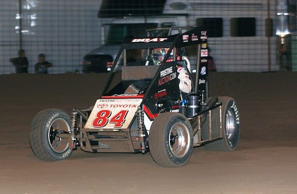 Chad Boat of Phoenix, Arizona earned his first career USAC National Midget victory Tuesday night at Jefferson County Speedway in Fairbury, Nebraska.