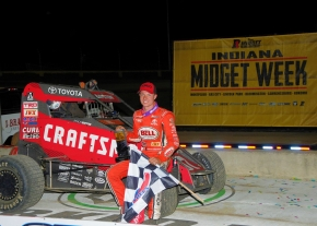 2018 Indiana Midget Week champion Spencer Bayston