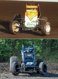 "Brady Bacon (top) and Tyler Courtney (bottom) will compete in all four crowns of the 35th ""4-Crown Nationals"" at Eldora Speedway on Saturday night, Sept. 24."