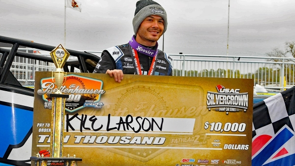 LARSON WINS BETTENHAUSEN 100; GRANT IS SILVER CROWN CHAMP