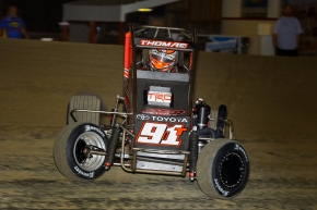 Tyler Thomas aims to win his first career Kokomo USAC NOS Energy Drink National Midget feature this Friday and Saturday, April 5-6. He won his first career USAC AMSOIL National Sprint Car race last summer at Kokomo.