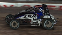 Ryan Diatte (57) wrapped up the 2019 iRacing USAC World Championship presented by FloRacing season with a win at Fairbury American Legion Speedway.