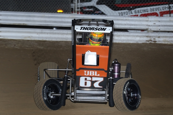 New USAC National Midget point leader Tanner Thorson.