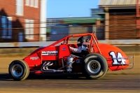 "The McQuinn #14 at the ""Hoosier Hundred"" in 2018"