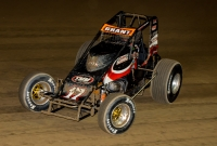 "Justin Grant won last Saturday's ""4-Crown Nationals"" USAC AMSOIL National Sprint Car feature at Eldora Speedway."