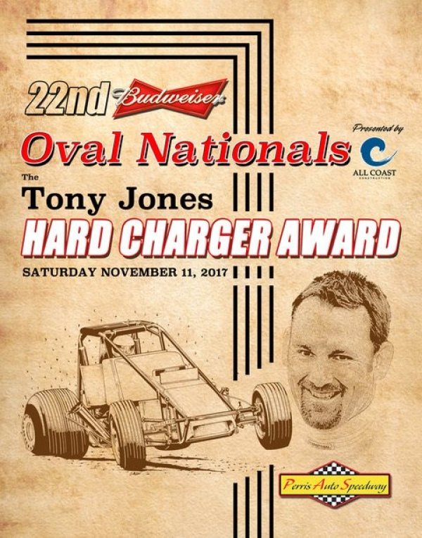 OVAL NATIONALS TONY JONES HARD CHARGER AWARD DOUBLES IN SIZE!
