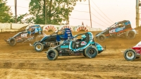 USAC AMSOIL National Sprint Car action at Plymouth Speedway.