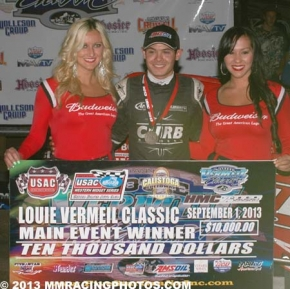 Kyle Larson 1st at Calistoga Sunday.