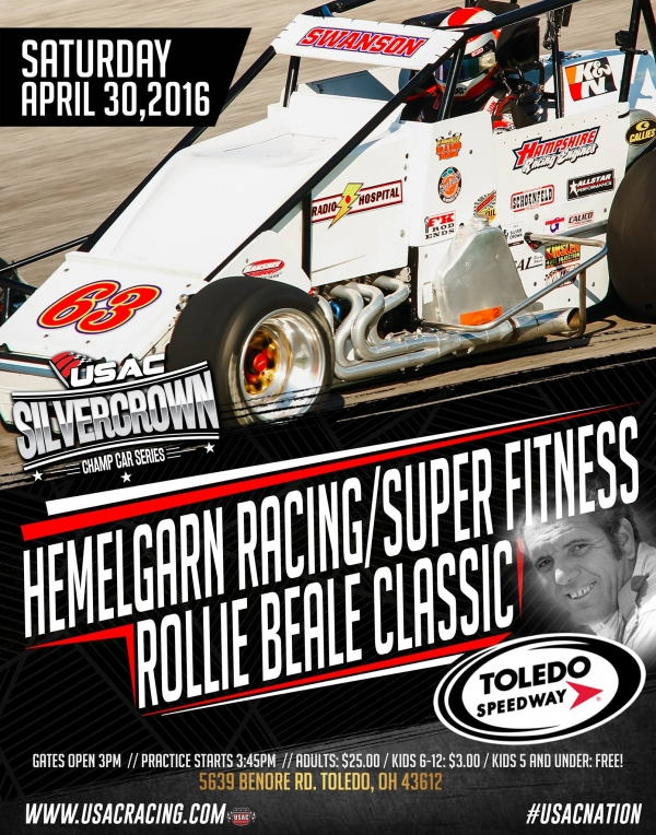 GOLDEN TOLEDO USAC RACE ON TAP SATURDAY; ROLLIE BEALE CLASSIC SET FOR 100 LAPS