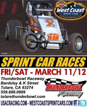 FRIDAY'S TULARE WEST COAST SPRINT RACE RAINED OUT; SATURDAY STILL A GO!