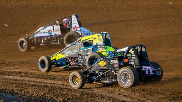 USAC AMSOIL National Sprint Car action at the Terre Haute (Ind.) Action Track from the 2019 season.