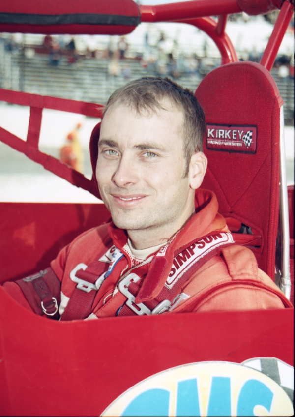 Dave Steele at Salem (Ind.) Speedway in 2001.