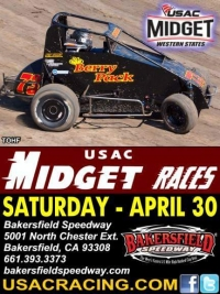 GARDNER SEEKS 3RD WESTERN STATES MIDGET VICTORY AT BAKERSFIELD SATURDAY