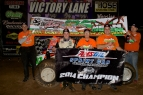 Brady Bacon & crew pose after winning the 2014 AMSOIL USAC Sprint Car National Championship.
