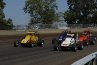 "The field for the 2014 ""Bettenhausen 100"" USAC Silver Crown race at Springfield gets ready to take the green flag."