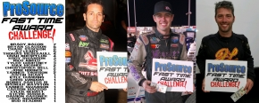 "(Left to right) Damion Gardner, Jake Swanson and Bud Kaeding recorded ProSource Fast Qualifying times last weekend at the 21st Annual Budweiser ""Oval Nationals"" at Perris (Calif.) Auto Speedway."