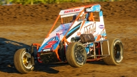 #7T Adam Taylor (Dwight, Ill.), a recent USAC Midwest Thunder SpeeD2 Midget feature winner.