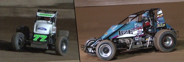 R.J. Johnson and Danny Faria captured USAC Sprint titles at Tucson.