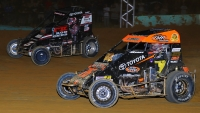 Jason McDougal (#76m) and Kevin Thomas, Jr. (#5)