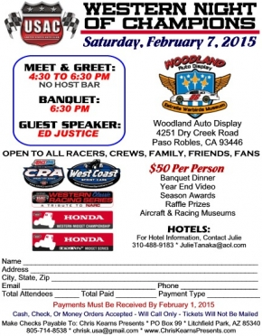 WESTERN BANQUET FEBRUARY 7 AT PASO ROBLES