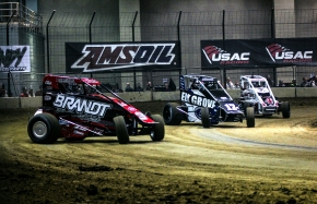 "Du Quoin action from Saturday night's ""Shamrock Classic"""