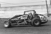 Steve Butler at the Indiana State Fairgrounds Mile on his way to the 1992 USAC Silver Crown championship.