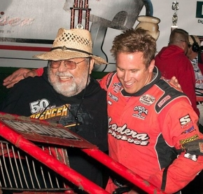 Ron Chaffin (left) with driver Mike Spencer.