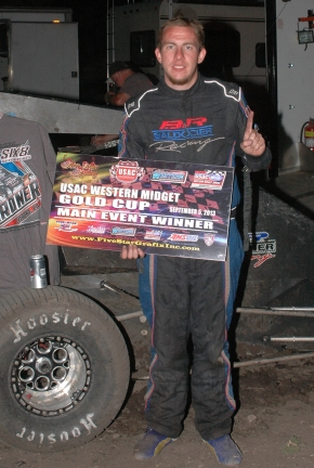 Honda Western Midget leader Ronnie Gardner wins again at Chico.